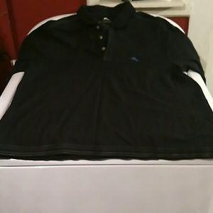 Mens tommy bahama black polo shirt sz XL